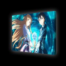 Картина с подсветкой - персонажи Кирито и Асуна из аниме Мастера меча онлайн
