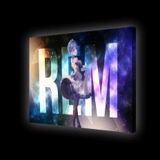 Картина с подсветкой - персонаж Рем из аниме Re:Zero