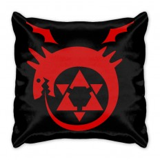 Подушка Стальной алхимик Уроборос логотип